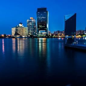 Dubai Blue Hour by Chirag Mer - City,  Street & Park  Vistas