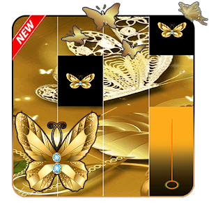 Gold Butterfly Piano Tiles