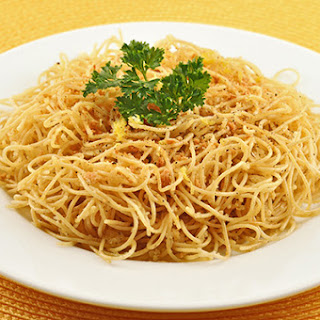 Angel Hair with Lemon-Pepper Garlic Crumbs