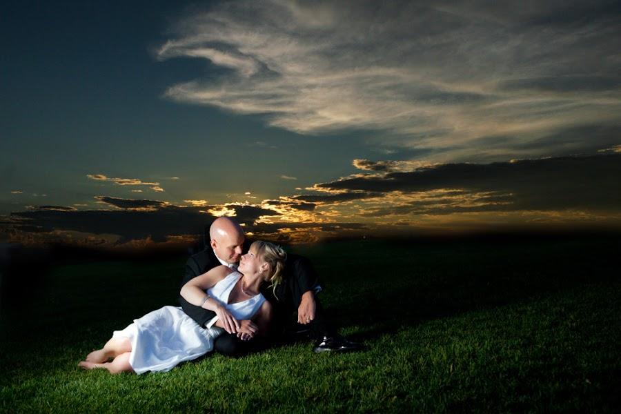 Sundown over our town by Mark Wingert - Wedding Bride & Groom
