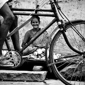 Street life by Sudharshun Gopalan - City,  Street & Park  Street Scenes ( cycle, life, gopalan, street, sudharshun, india, kancheepuram, chennai, tamilnadu )