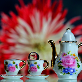 by Dipali S - Artistic Objects Other Objects ( teapot, flora, chrysanthemum, tea, teacup )