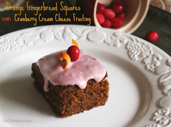 Orange Gingerbread Cake with Cranberry Cream Cheese Frosting Recipe ...