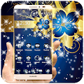 App Golden Blue Flower Deluxe gold apk for kindle fire