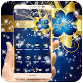 Golden Blue Flower Deluxe gold APK for Lenovo