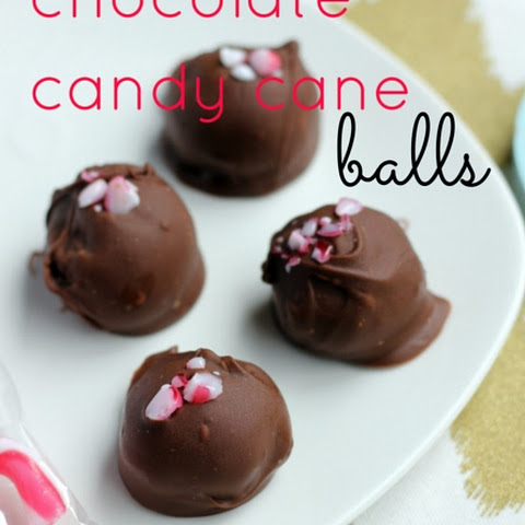 Chocolate Candy Cane Balls
