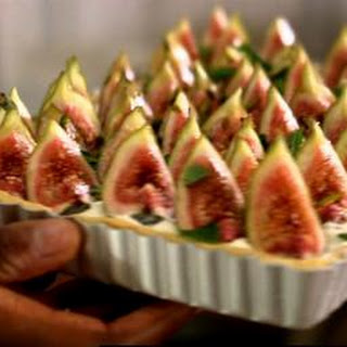 Fig, Cream Cheese And Mint Tart