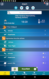 Hamburg Airport+Flight Tracker - screenshot