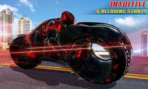 Tron Bike Stunt Transform Car Driving Simulator