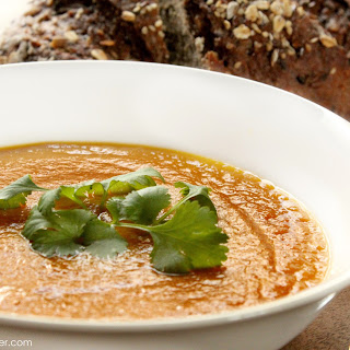 Moroccan Inspired Pumpkin & Carrot Soup