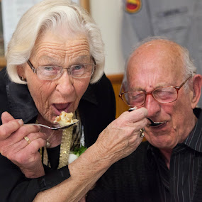 Celebrating 60 years of Marriage by Lynton Brown - People Couples ( cake, lynton brown )