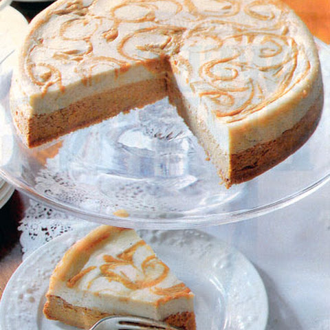 Pumpkin-Swirl Cheesecake