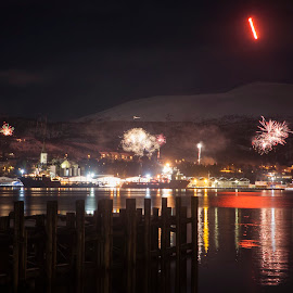 New year eve by Yvonne Reinholdtsen - Public Holidays New Year's Eve ( new year, harbour, vesterålen, fireworks, norway )