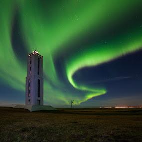 Aurora borealis by Páll Jökull Pétursson - Landscapes Starscapes ( suðurland, grænt, 2013, green, aurora borealis, norðurljós, canon eos 5d mkii, nótt, rokinon, iceland, 14mm, ísland, night, light, ljós )
