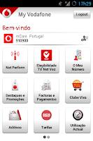 Screenshot of My Vodafone