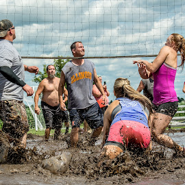 Bump, Set, Spike, SPLASH!!! by T Sco - Sports & Fitness Other Sports ( mud, splash, volleyball, dirty, sports, sport, dirt )