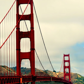 The bridge from the side by Ethan Fox Miles - Travel Locations Landmarks