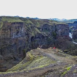 Markafljótsglúfur-2 by Palmi Vilhjalmsson - Landscapes Mountains & Hills ( mountanin trail, iceland, hiking, laugarvegurinn, hiking in iceland )