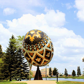 Pysanka  by Jim Dicken - Buildings & Architecture Public & Historical ( easter egg, pysanka, ukrainian art, largest pysanka,  )
