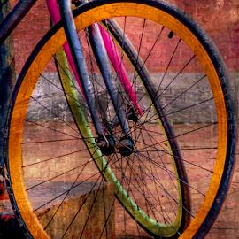 Pas De Deux by Ann Allison - Transportation Bicycles ( bicycles, colorful, wheels, photoart, racing bikes )