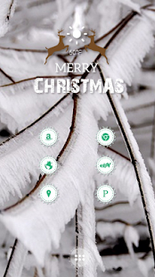 Snow branches theme - screenshot