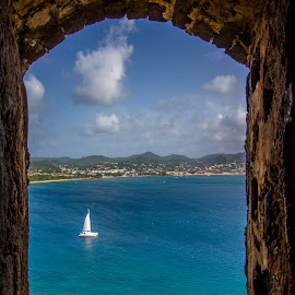 Rodney Bay by Matthew Ware - Landscapes Travel ( national park, bay, ruins, fort, saint lucia, boat )