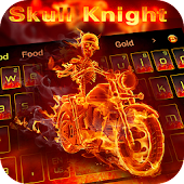 App Fire Motorcycle Skull Warrior Keyboard Theme APK for Kindle