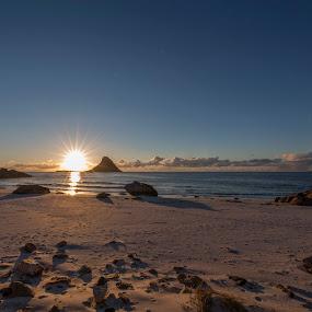 Sunset  by Benny Høynes - Landscapes Sunsets & Sunrises ( andøya, sunset, islands, beach, sun )