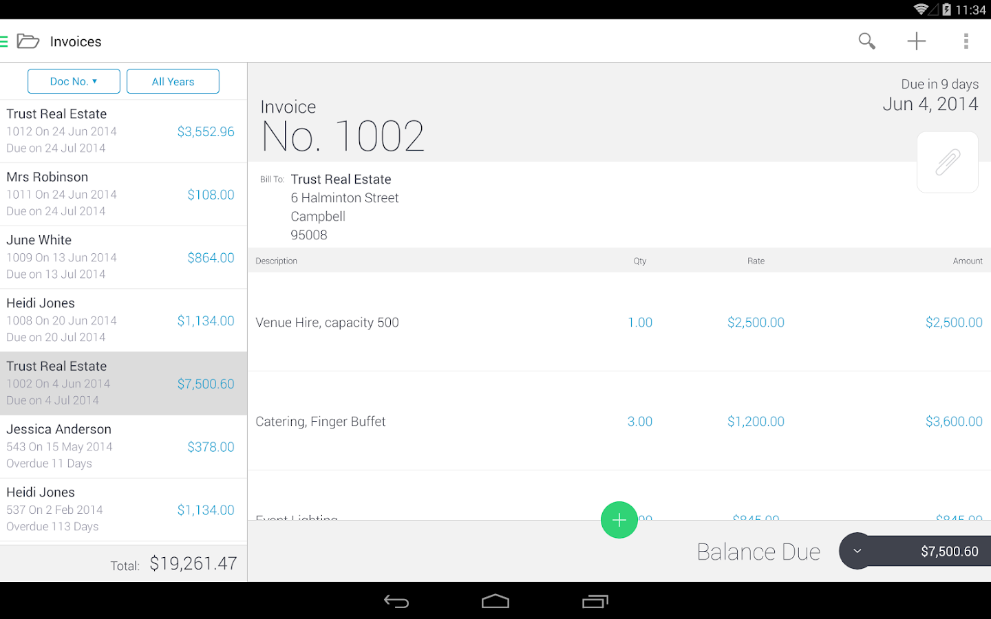 Invoice & Estimate Invoice2go Screenshot 9
