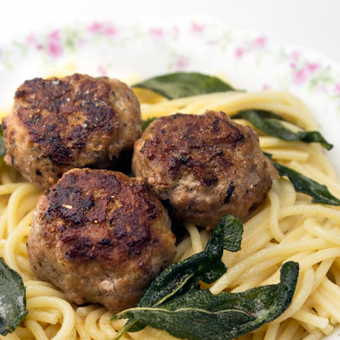 Turkey Meatballs with Sage + Brown Butter Pasta
