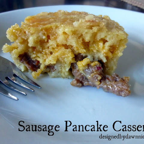 Sausage Pancake Casserole {Cleaned-Up!}