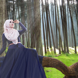 Hijaber by Achmad Dwi Saputro - Digital Art People ( photomanipulation, art, digital art, hijaber, photography )