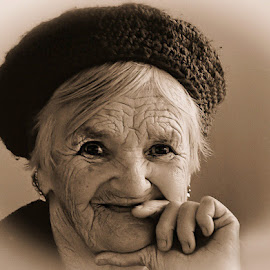 The Brave Heart by Mirela Korolija - People Portraits of Women ( senior citizen )
