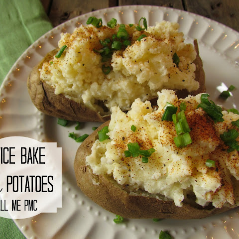 Twice Baked Feta Potatoes