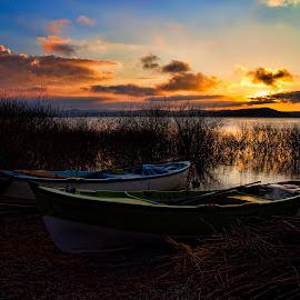 Sunrise at Golyazi by Yildirim Gencoglu - Landscapes Sunsets & Sunrises ( sunrise lake boat )