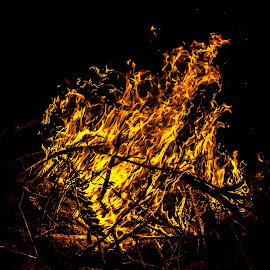 Fire by Richard Wright - Abstract Fire & Fireworks