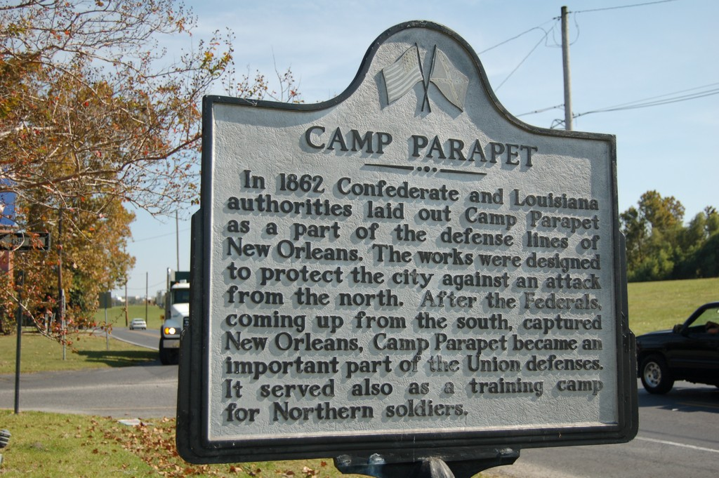 In 1862 Confederate and Louisiana authorities laid out Camp Parapet as a part of the defense lines of New Orleans. The works were designed to protect the city against an attack from the north. After ...