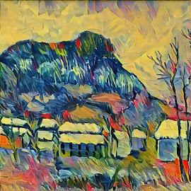 Landscape by Prim Arta - Illustration Flowers & Nature ( colors, primarta, landscape, painting, radulea )