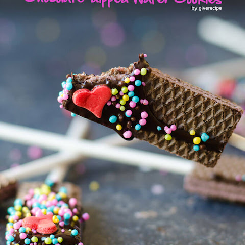 Chocolate Dipped Wafer Cookies