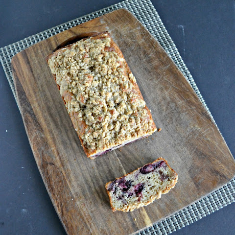 Cherry Bread with Streusel Topping