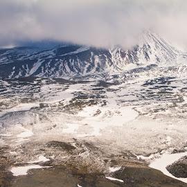 Untitled Alaska by Kelly Maize - Landscapes Mountains & Hills ( mountain, alaska, snow, mountain range, clouds, landscpae )