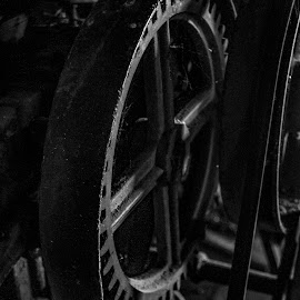 gear by Tim Hauser - Artistic Objects Industrial Objects ( black ans white photography, tim hauser photography, fine art photography, artistic objects, gears )