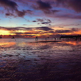 Boracay at dusk by Fresco Jr Linga - Landscapes Travel