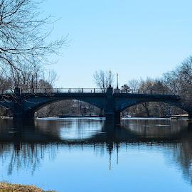 BRIDGE by Marc-Andre Grenier - Buildings & Architecture Bridges & Suspended Structures ( water, reflection, trees, bridge, river )