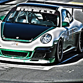RAcing Porsche by Cristobal Garciaferro Rubio - Transportation Automobiles ( car, gt3, porshce, racing car, 911, gt3 cup )