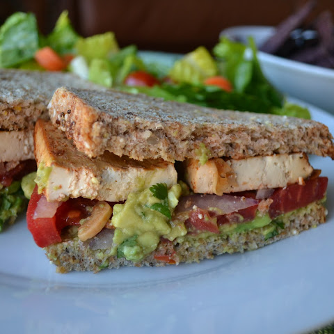 Spicy Baked Tofu Sandwich