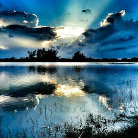 Dreaming In Blue by Glenn Forman - Landscapes Sunsets & Sunrises ( clouds, reflection, nature, sunset, beautiful, twilight, sundown, cloudscape, long exposure, beauty, beauty in nature, longexposure )