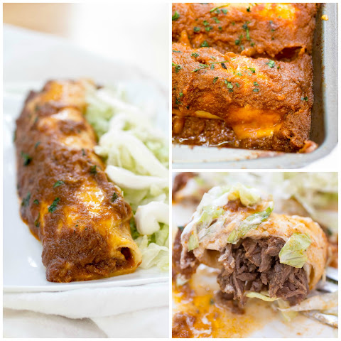 Smothered Shredded Beef Burritos