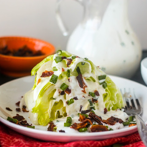 Wedge Salad with Buttermilk Ranch Dressing (Homemade)