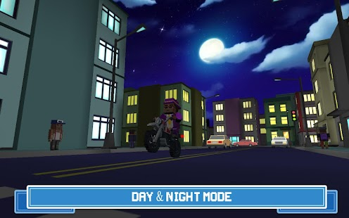 Moto Rider 3D: Blocky City 17 Screenshot